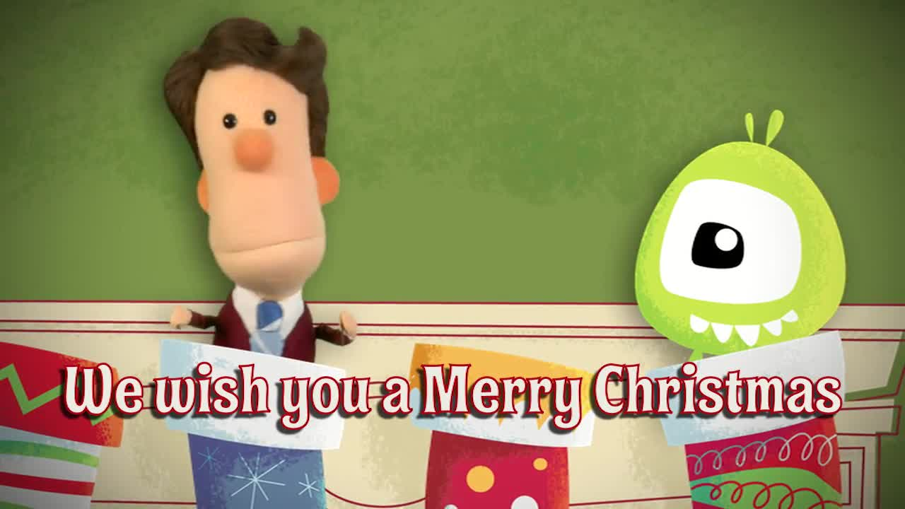 We wish you a merry christmas sing along