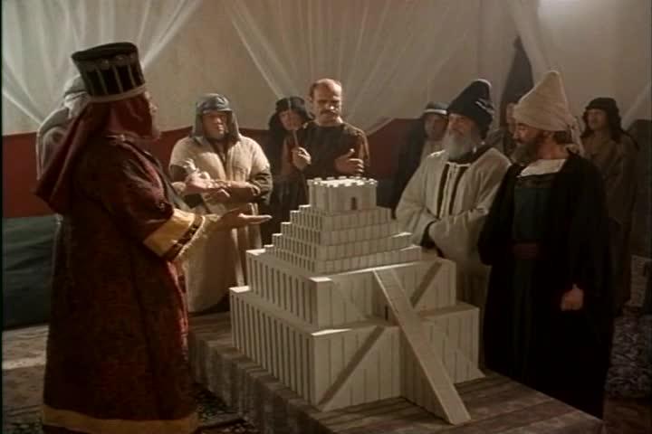 God destroys the tower of babel