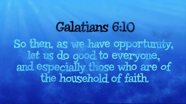 Galatians 610 ocean