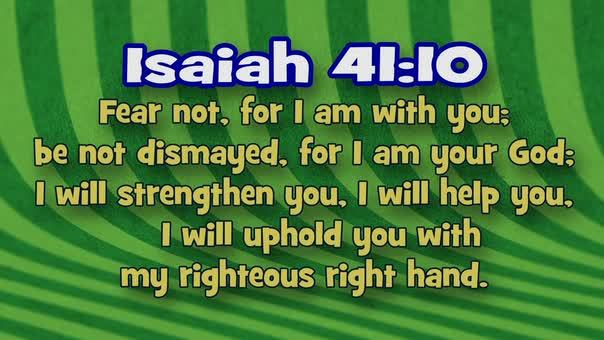 Isaiah 4110 stripes