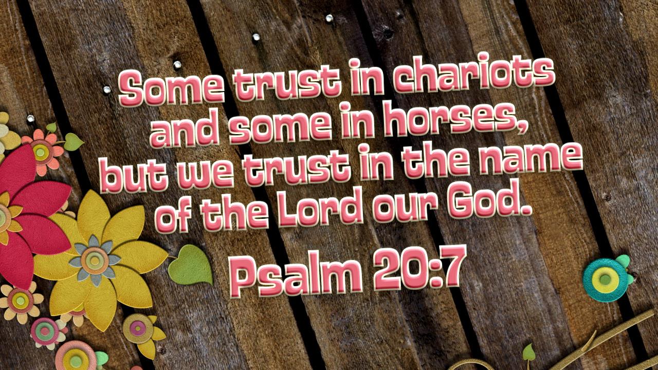 Psalm 207 flowers